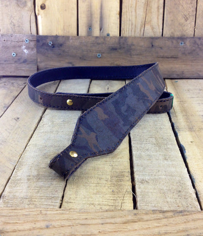 Camouflage Print Leather Rifle Strap