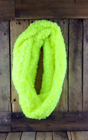 Hand-Knitted Neon Yellow Infinity Scarf