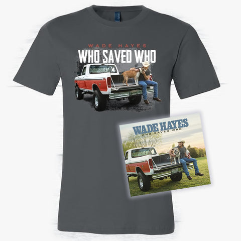 Who Saved Who T-Shirt & Autographed CD