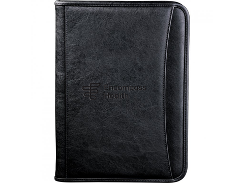 Encompass Health Black Zippered Padfolio