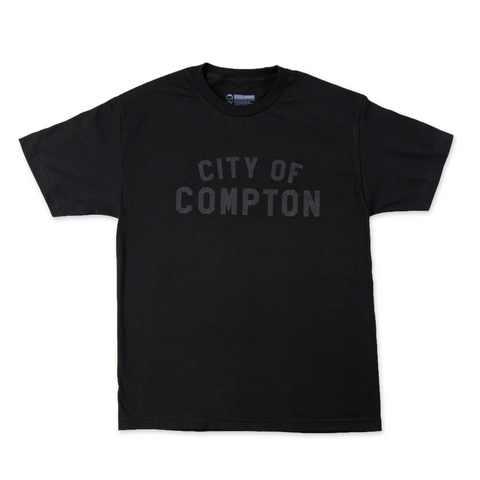 City of Compton Tee - Black on Black