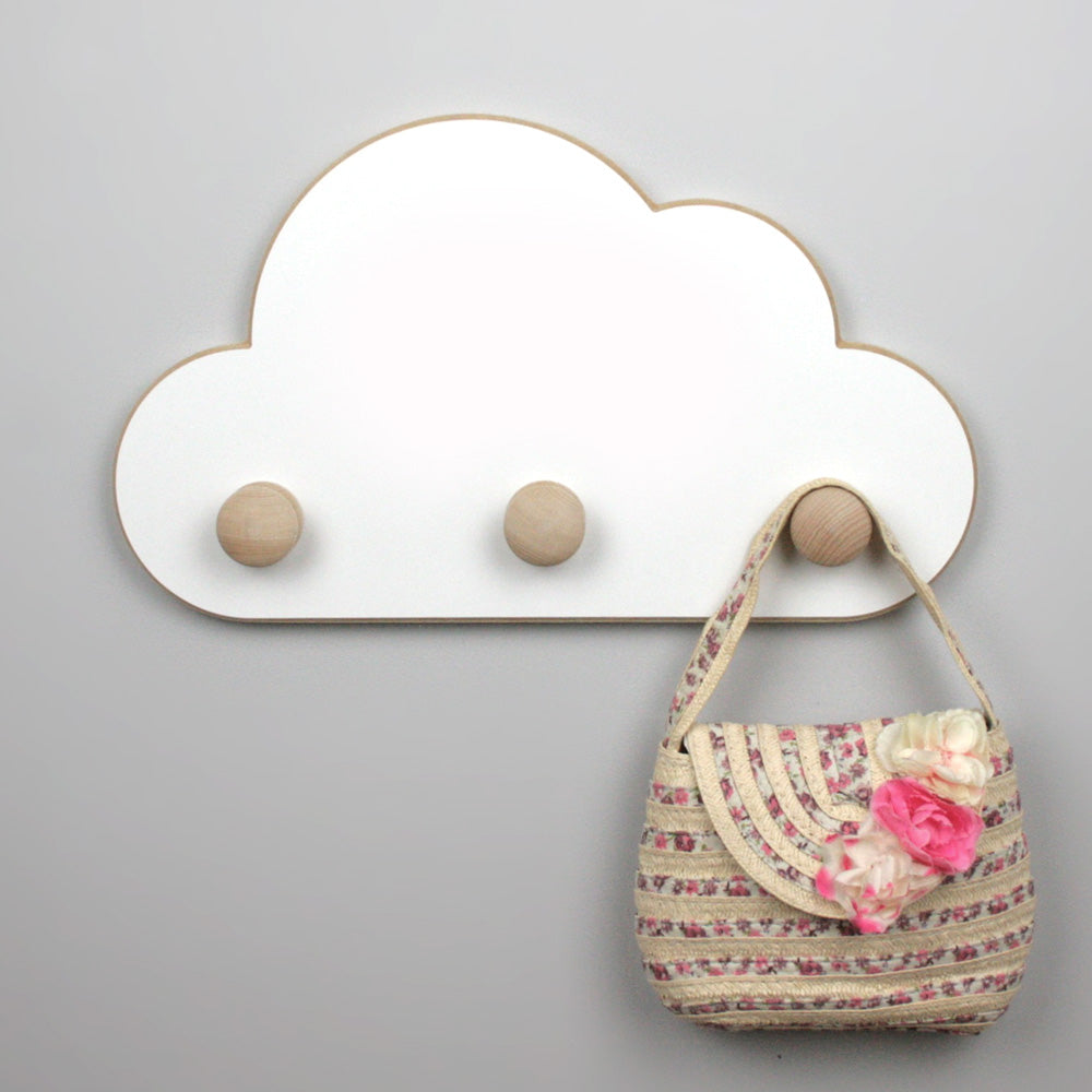 Cloud shaped wall hangers.