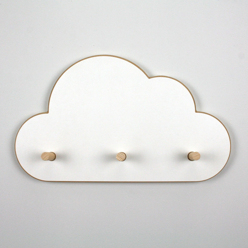 Plain image of floating cloud coat hanger.