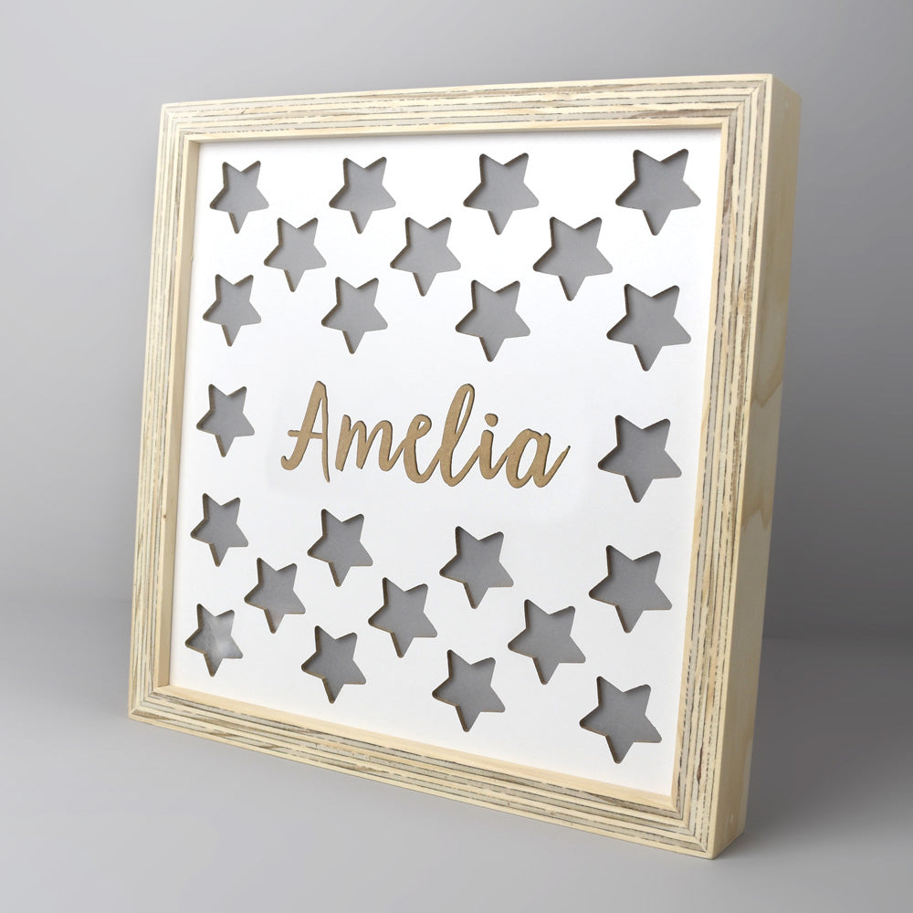Personalised star light box.