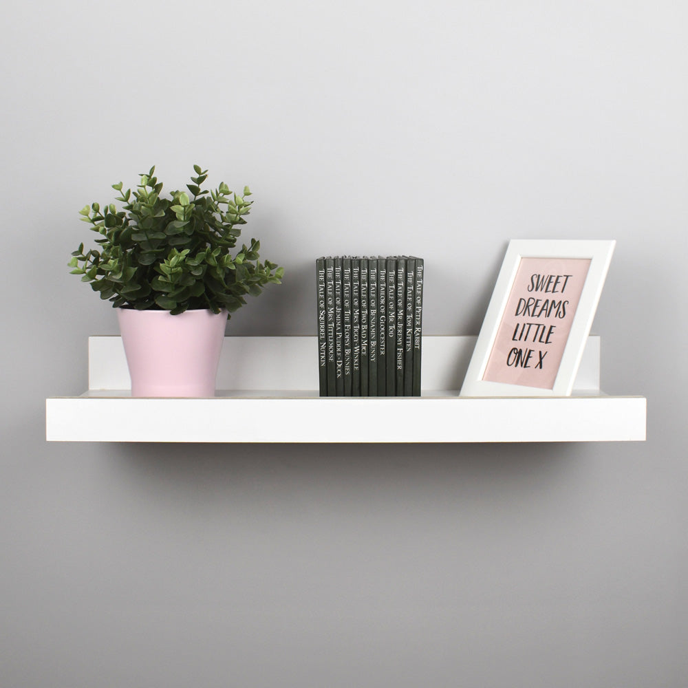 Wall Book Shelf in White.