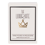 The Luxuriate: Salted Caramel Black Marble Candle With Gold Lid - Luxe Gifts™  - 2