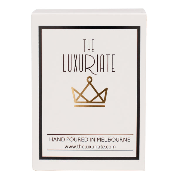 The Luxuriate: Amazon Summer Apple White Marble Candle With Gold Lid - Luxe Gifts™  - 2
