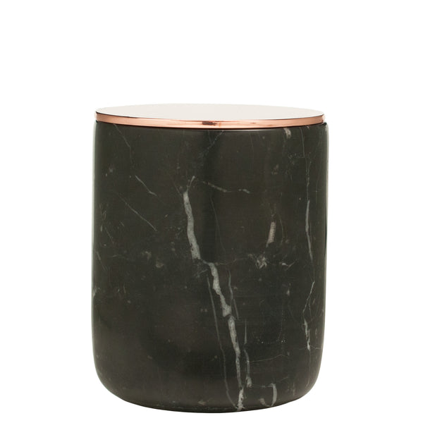 The Luxuriate: Salted Caramel Black Marble Candle With Gold Lid - Luxe Gifts™  - 1
