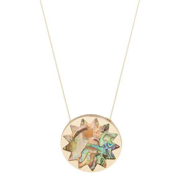 House of Harlow 1960: Sunburst Pendant Necklace Abalone Shell - Luxe Gifts™