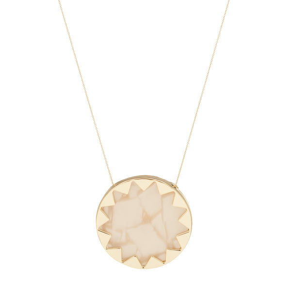 House of Harlow 1960: Sunburst Pendant Necklace Pearl - Luxe Gifts™