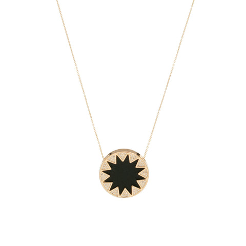 House of Harlow 1960: Sunburst Pave Necklace Black - Luxe Gifts™