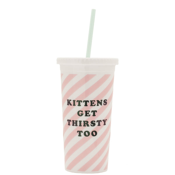 Ban.do: Kittens Get Thirsty Sip Sip Tumbler - Luxe Gifts™  - 1