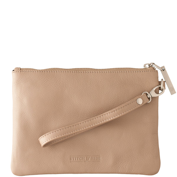 Stitch and Hide: Cassie Clutch Dusty Linen - Luxe Gifts™  - 2