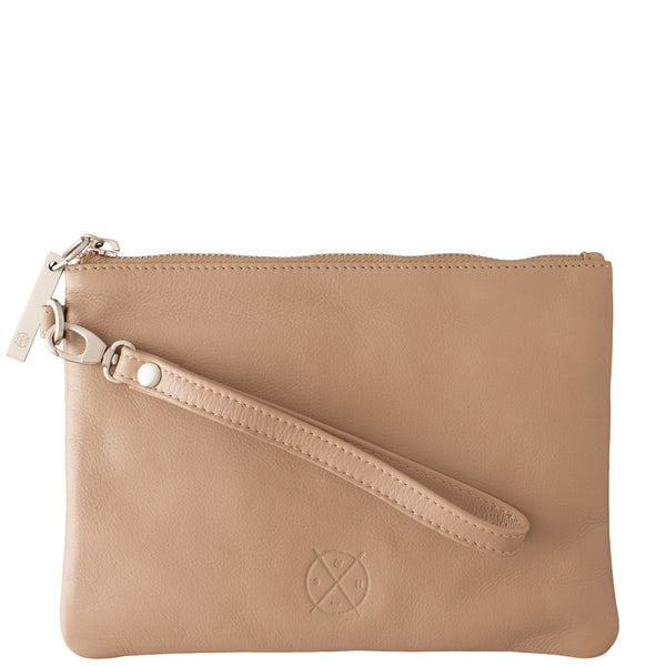 Stitch and Hide: Cassie Clutch Dusty Linen - Luxe Gifts™  - 1