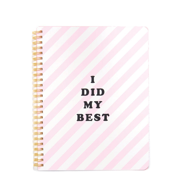 Ban.do Spiral Notebook I Did My Best - Luxe Gifts™