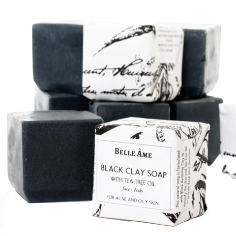 Belle Ame: Australian Black Clay and Tea Tree Oil Natural Soap - Luxe Gifts™