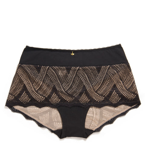Knicker Luxe: Coco - Licorice High Hipster Knickers - Luxe Gifts™  - 1