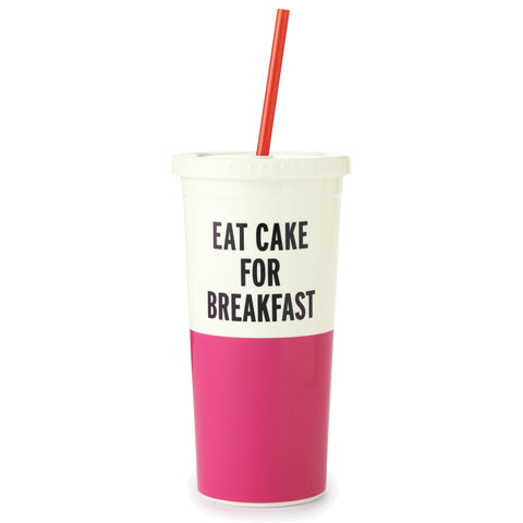 Kate Spade New York: Eat Cake For Breakfast Tumbler - Luxe Gifts™