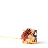 Knitted Window: Organic Rose Petals with 24K Gold Necklace - Luxe Gifts™  - 2