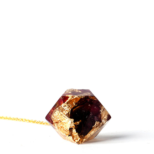 Knitted Window: Organic Rose Petals with 24K Gold Necklace - Luxe Gifts™  - 3