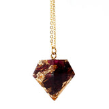 Knitted Window: Organic Rose Petals with 24K Gold Necklace - Luxe Gifts™  - 1