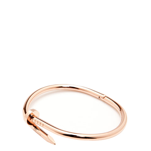 The Peach Box: Twisted Nail Bangle Rose Gold - Luxe Gifts™  - 1