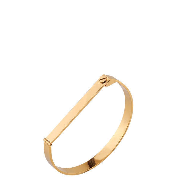 The Peach Box: Screw Bar Bangle Gold - Luxe Gifts™  - 2
