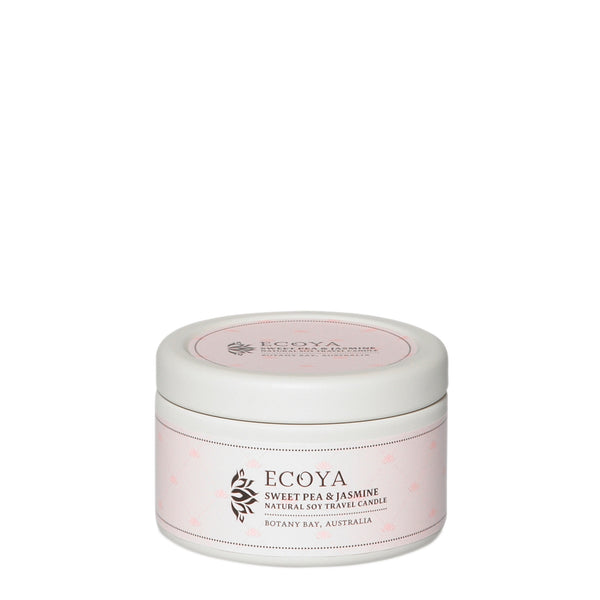 Ecoya: Sweet Pea and Jasmine Natural Soy Travel Candle - Luxe Gifts™
