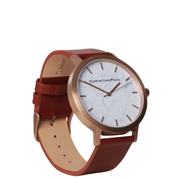Christian Paul: Rose Gold & Walnut Marble Watch - Luxe Gifts™  - 2