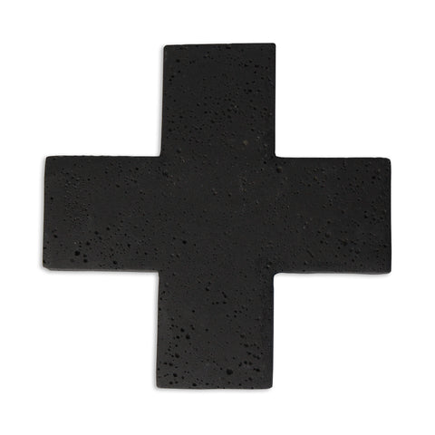 Zakkia: Cross Concrete Trivet Black - Luxe Gifts™