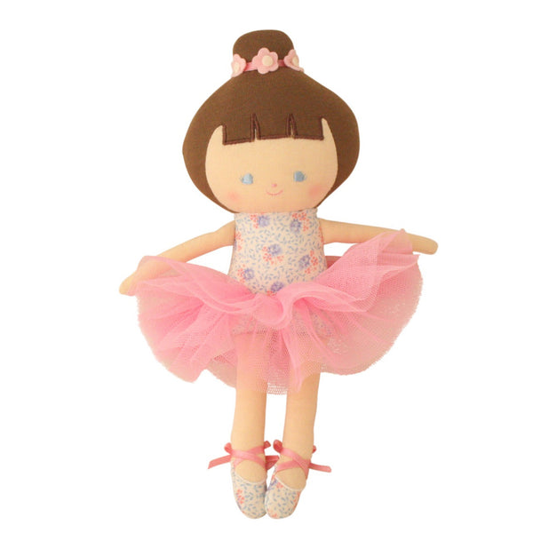 Alimrose: Baby Ballerina Doll Blue Floral - Luxe Gifts™