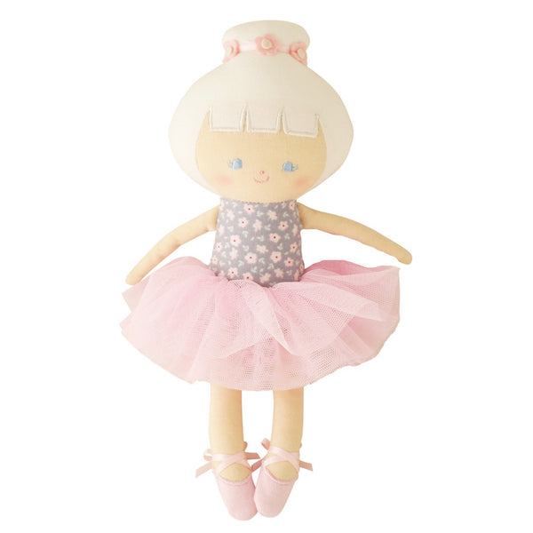Alimrose: Baby Ballerina Doll Grey Floral - Luxe Gifts™