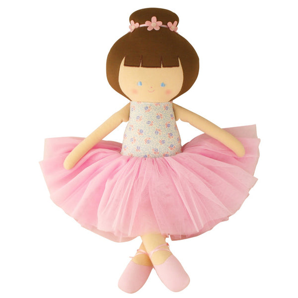Alimrose: Large Ballerina Doll Blue Floral - Luxe Gifts™