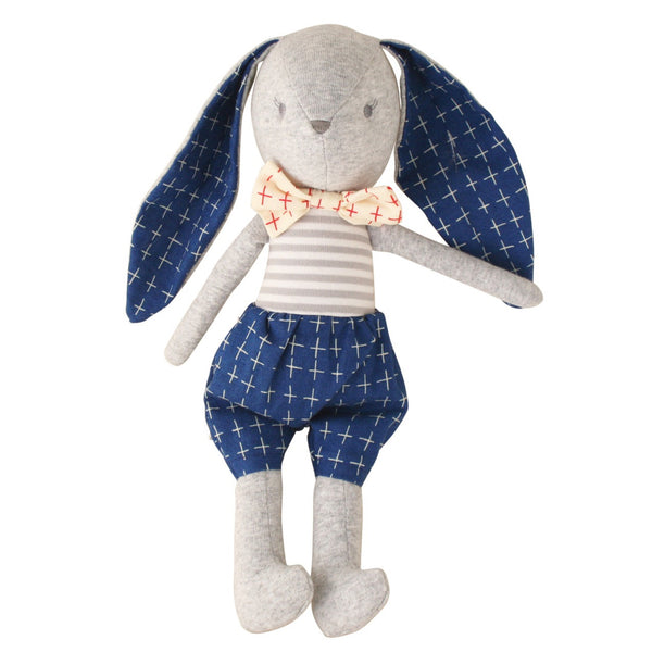 Alimrose: Bunny 'Dress Me' Cuddle Toy Louie Navy - Luxe Gifts™