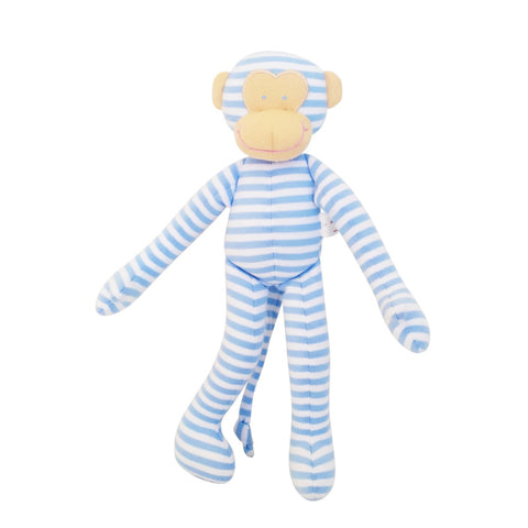 Alimrose: Monkey Rattle Blue Stripe - Luxe Gifts™