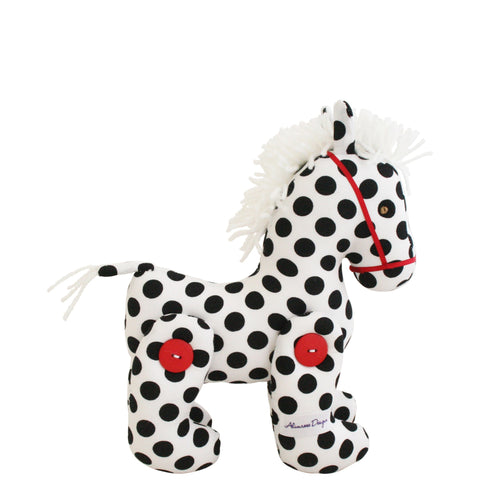 Alimrose: Jointed Pony Black Polka Dot - Luxe Gifts™