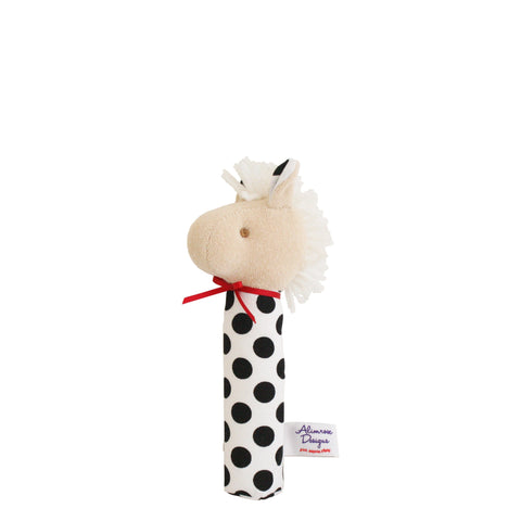 Alimrose: Horse Squeaker Black Polka Dot - Luxe Gifts™