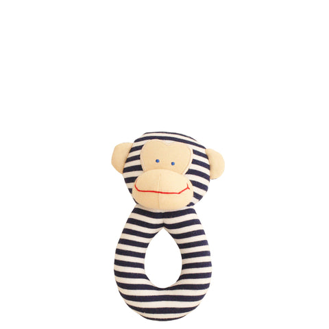 Alimrose: Monkey Grab Rattle Navy - Luxe Gifts™