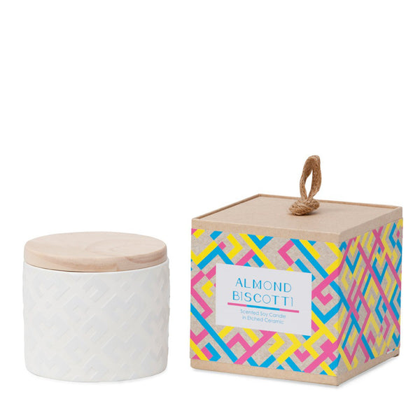 Ceramic Soy Candle: Almond Biscotti - Luxe Gifts™  - 1