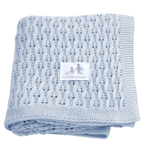 Little Bonbon: Lattice Powder Blue Shawl - Luxe Gifts™  - 1
