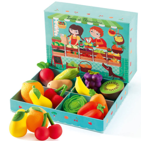 Djeco: Fruit and Veg 12 piece set - Luxe Gifts™  - 1