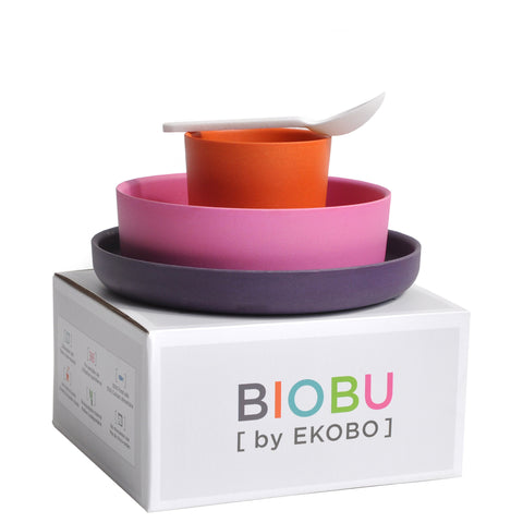 Biobu Bamboo Dinner Set Pink - Luxe Gifts™  - 1