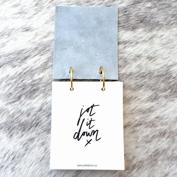 Jot it down: Leather Binder Ring Notepad - Luxe Gifts™  - 2