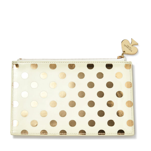 Kate Spade New York: Pencil Pouch Gold Dots - Luxe Gifts™  - 1