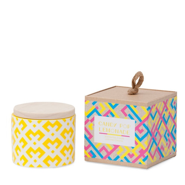 Ceramic Soy Candle: Candy Pop Lemonade - Luxe Gifts™  - 1