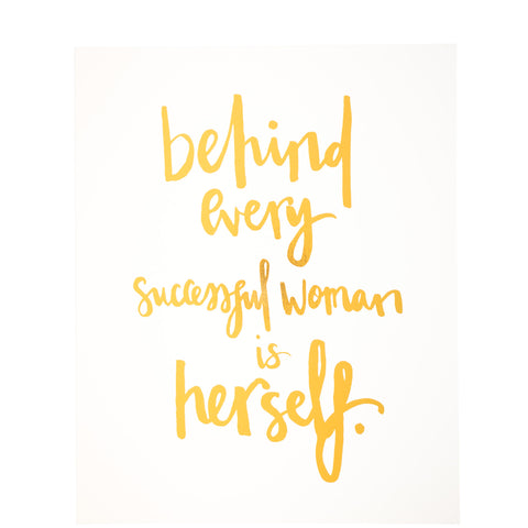 Miss Poppy Design: Successful Woman Gold Print - Luxe Gifts™