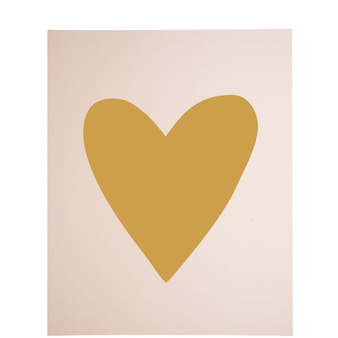 Miss Poppy Design: Gold Foil Heart Print - Luxe Gifts™