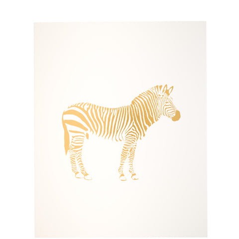 Miss Poppy Design: Zebra Gold Foil Print - Luxe Gifts™