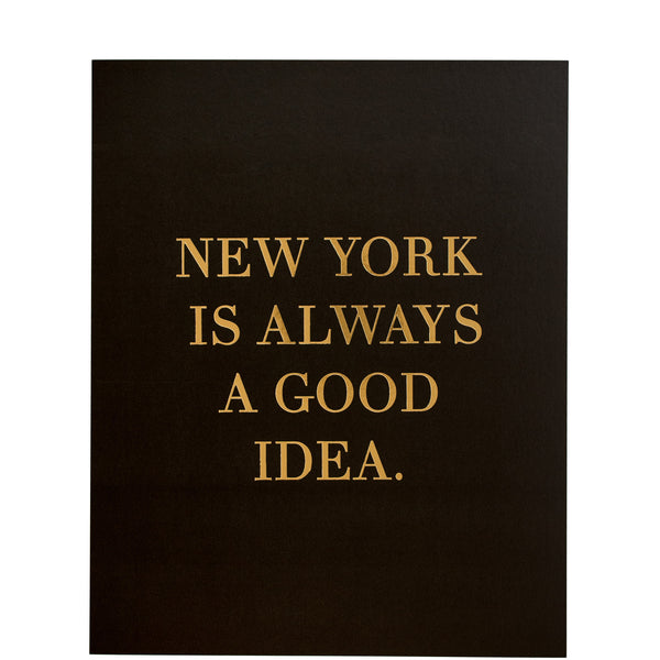 Miss Poppy Design: New York Gold Foil Print - Luxe Gifts™