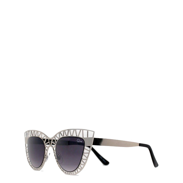 QUAY Australia: Steel Cat Sunglasses in Silver - Luxe Gifts™  - 2
